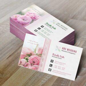 mẫu danh thiếp cho shop hoa , spa, tiệm làm đẹp